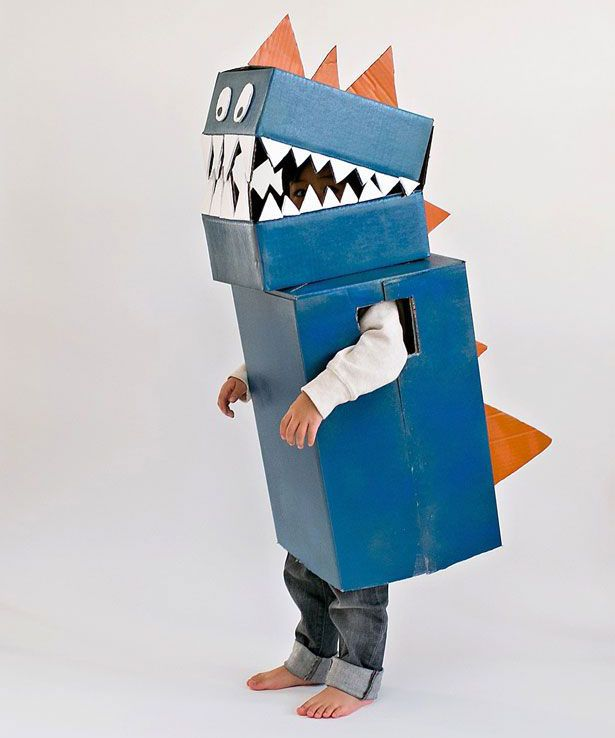 Carnaval Dino kostuum, Dino karton