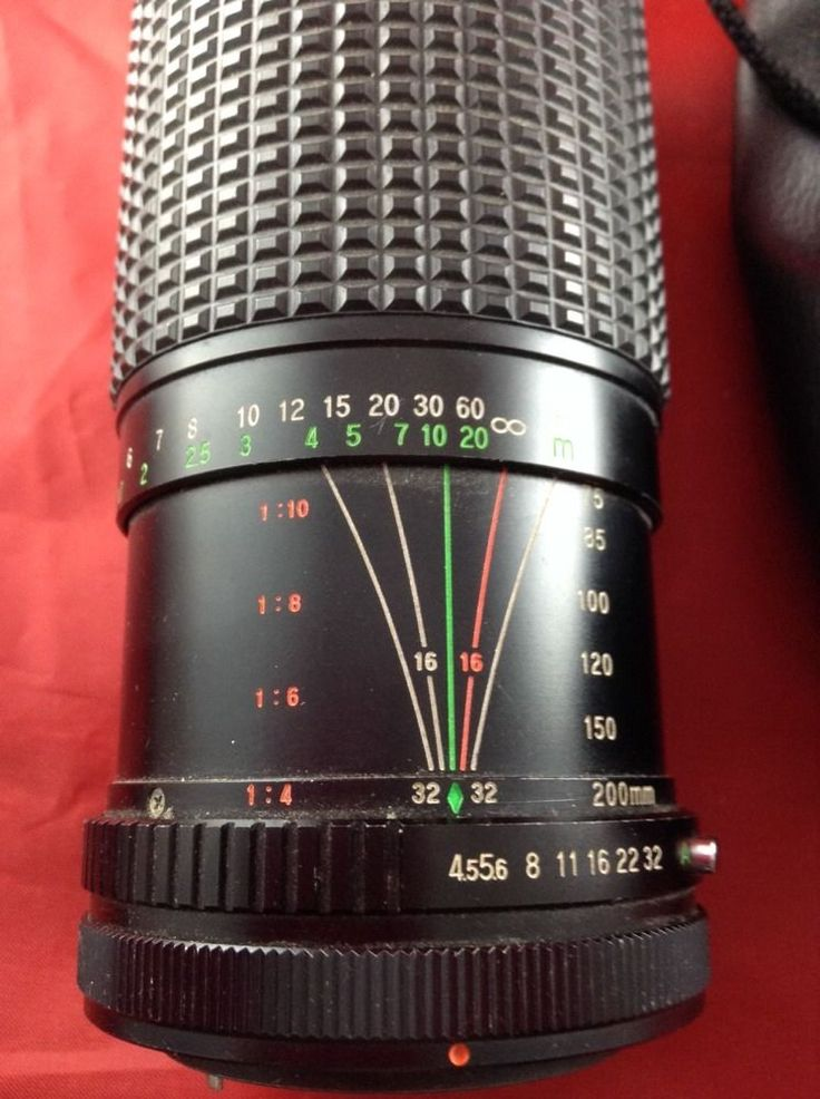 Camera Lens Tou Five Star MC Auto Macro Zoom 1:4.5 75-200mm Lens Pouch Cover  | eBay