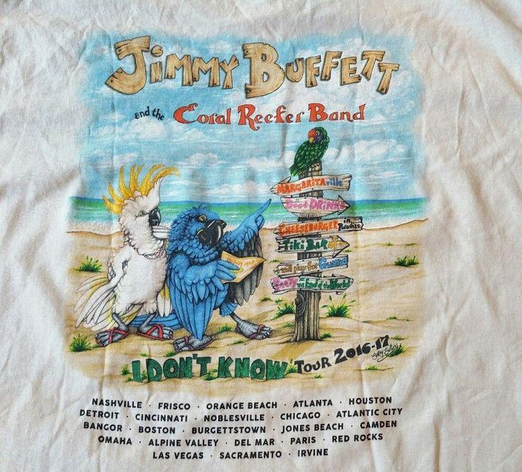 Jimmy Buffett I Dont Know 2016-17 Concert Tour T-Shirt Men XL Coral Reefer Band  #Gildan #GraphicTee