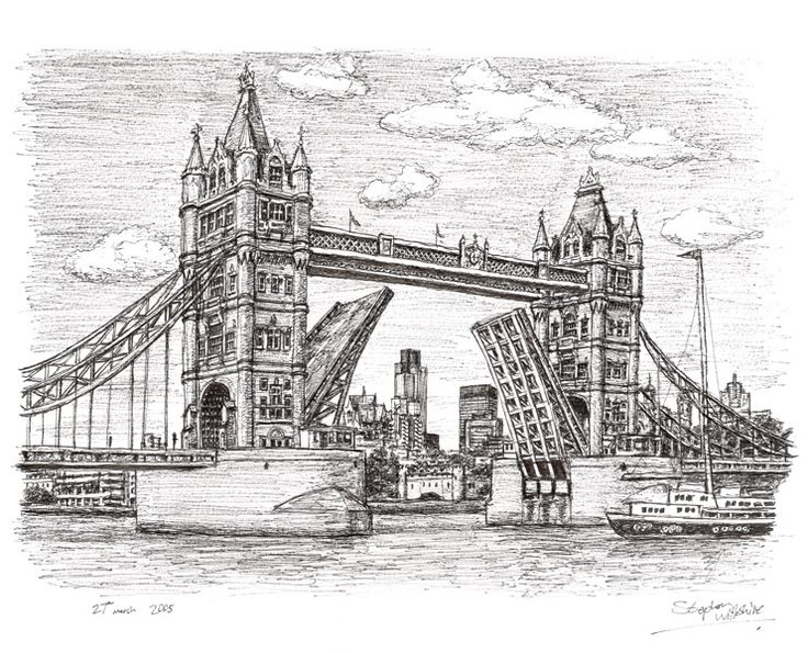 Tower Bridge - drawings and paintings by Stephen Wiltshire MBE