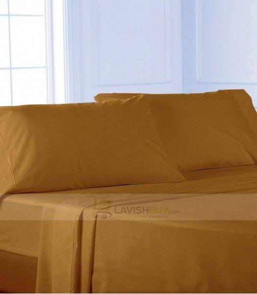 gold twin xl egyptian cotton sheet set 1000tc