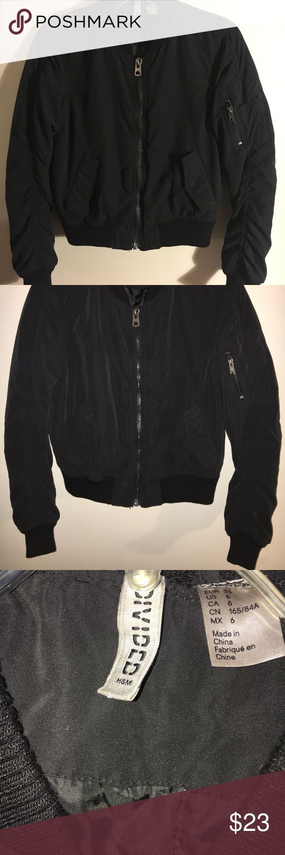 H&M divided Bomber jacket In great condition. All black H
