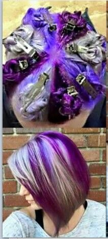 How to color streak hair. Great tip