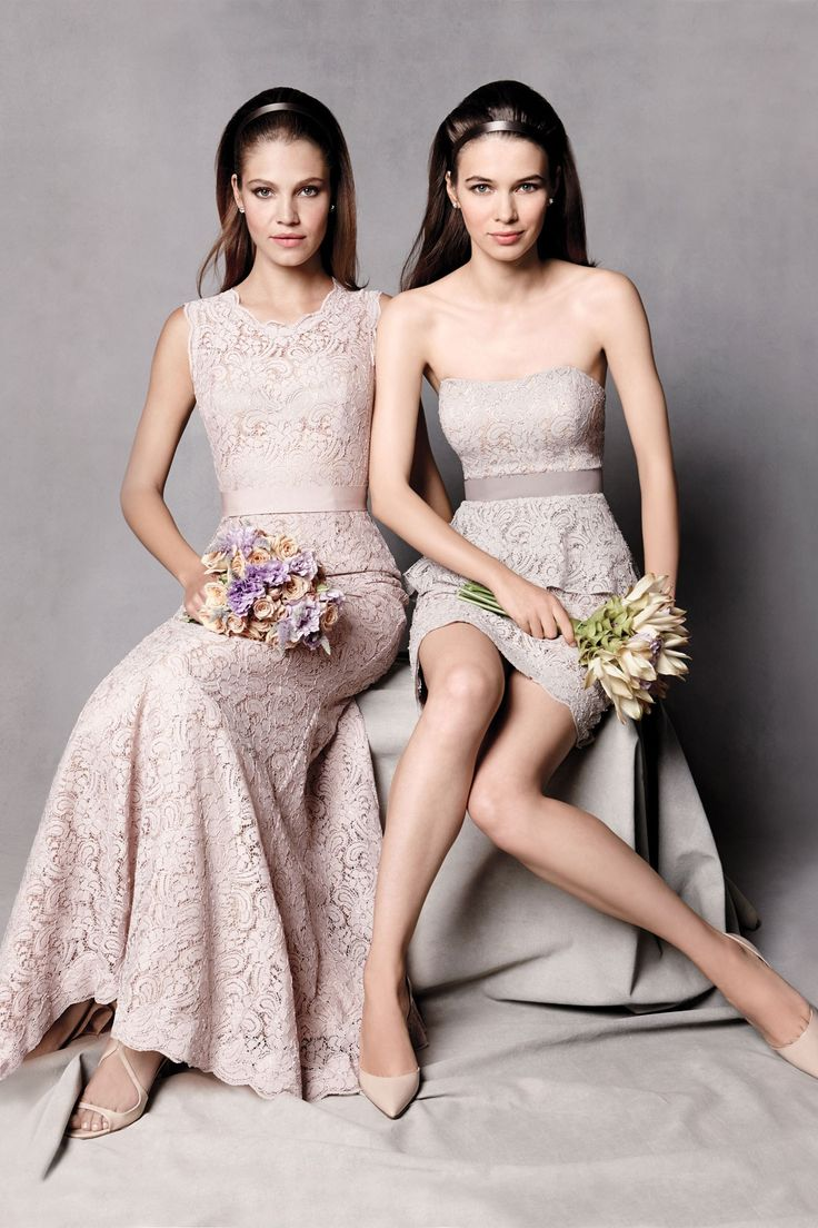 Watters Maids Spring 2014 champagne pink bridesmaid dresses.