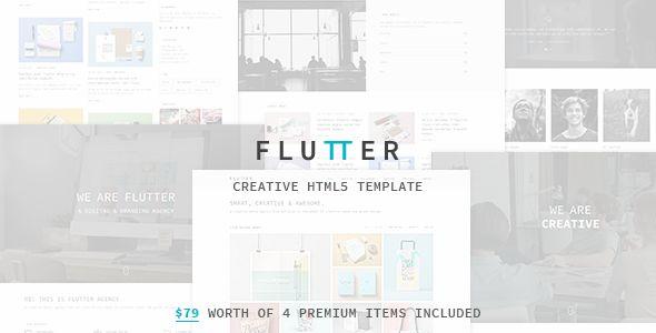 Flutter - Responsive Creative HTML5 Template