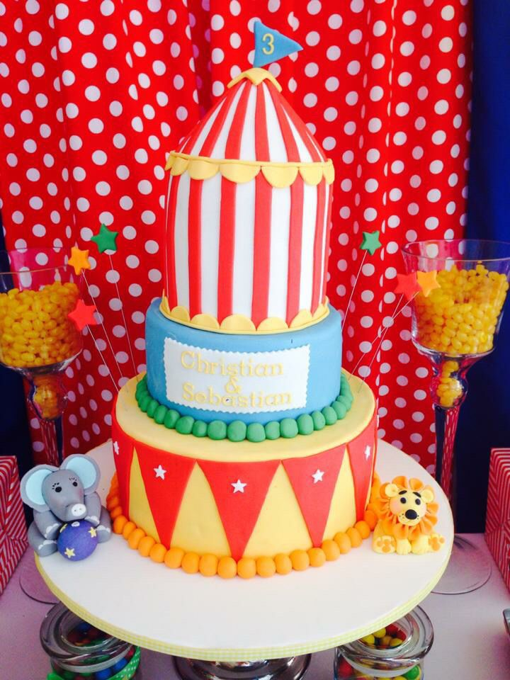 Circus big top cake. This was soooo much fun to make!!!