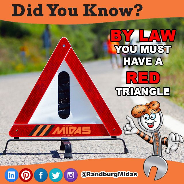 #Didyouknow by law you must carry a red triangle in your #vehicle #Roadtripping http://bit.ly/1W7yOOn