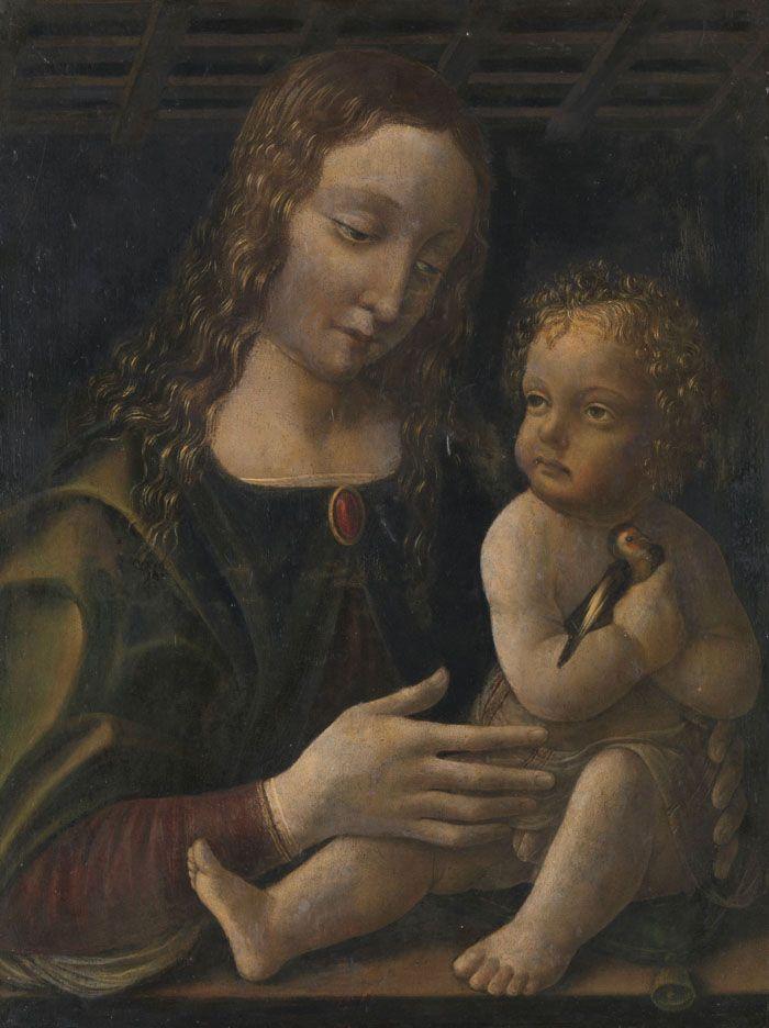 Франческо Наполетано вероятно Мадонна с младенцем - arabena.  Рейксмюсеум, Амстердам, 1490-1510.