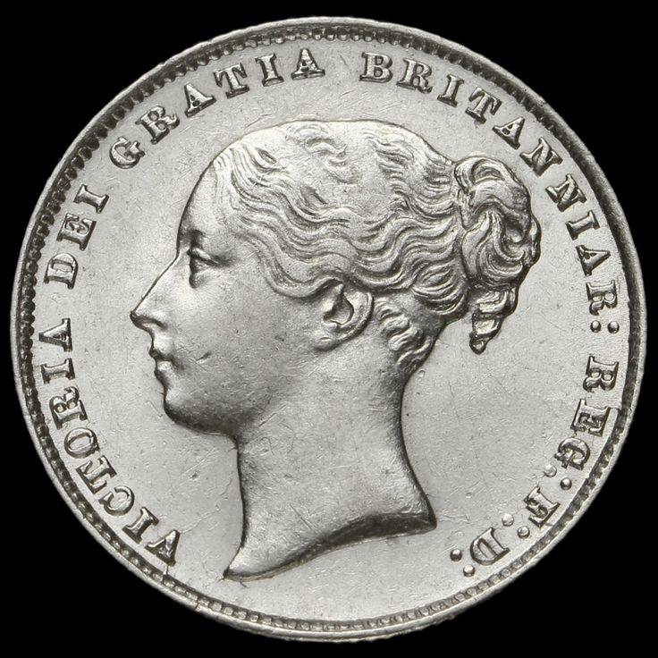 1867 Queen Victoria Young Head Silver Shilling, Scarce