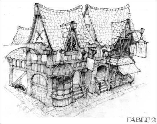 The World of Fable 2 Environments ✤ Coloring for adults - Kleuren voor volwassenen