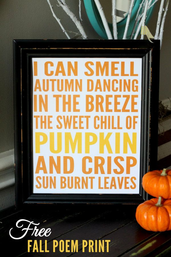 Free Fall Poem Printable on { lilluna.com } #fall #printable