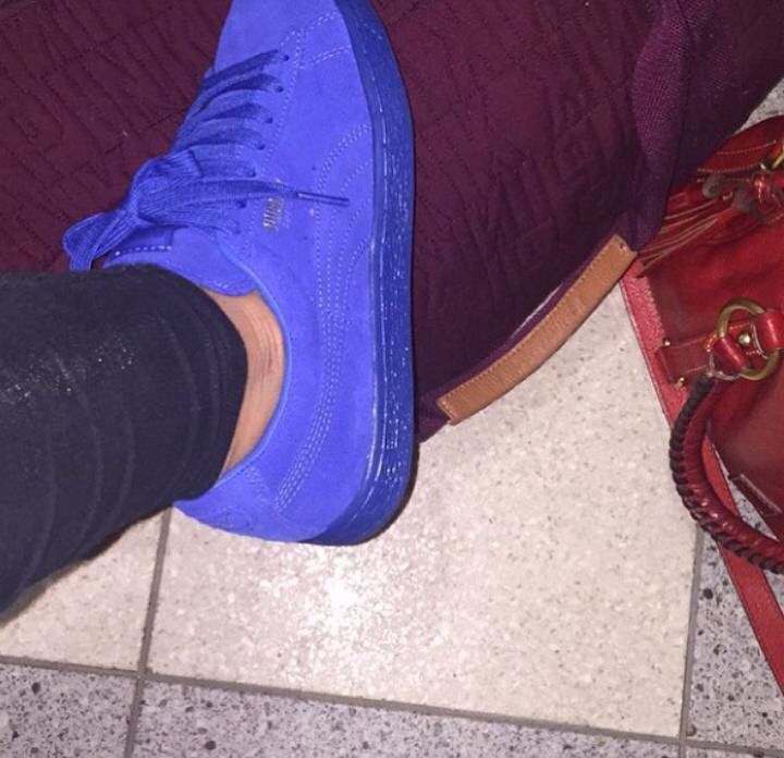 all blue pumas