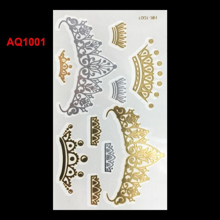 [Visit to Buy] Women Choker Bracelet Metallic Leaf Tattoo Temporary Tattoo Sex Product Flash Tatouage Metalic Silver Gold Tattoos Body Art #Advertisement