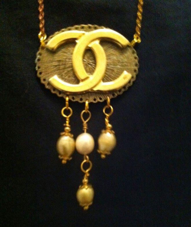 HANDMADE 62 - necklace macro logo vintage
