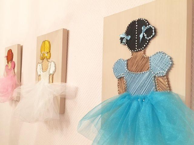 Балеринка, картины в стиле Стринг-арт