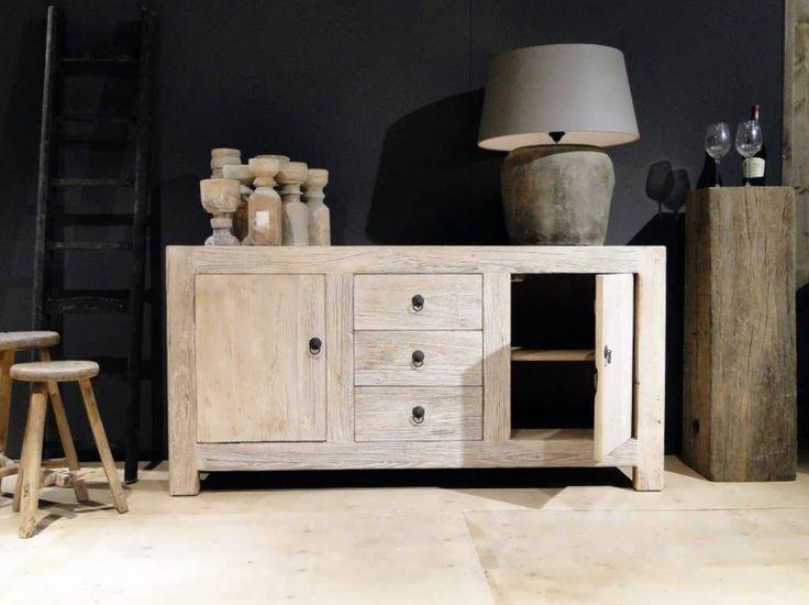 Dressoir van out hout Barasso - Dit model is leverbaar in 1 maat, naast een dressoir hebben we van dit hout ook een tv-meubel en hoge kast.