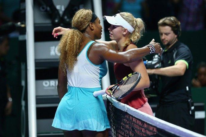 Serena Willians e Caroline Wozniacki, WTA Finals (Foto: Getty)