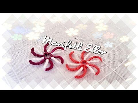 Mekik Oyası İç İçe Pır Pır Çiçekler Yapılışı - YouTube