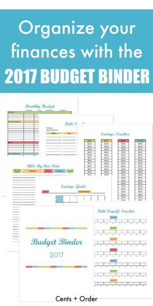 It's easy to get your finances organized with this free printable budget binder! Find out how to set up your binder with the included budget worksheets, bill payment checklist, savings trackers, debt tracking sheets, and more! FREE DOWNLOAD includes 20+ pages of financial printables for 2017.