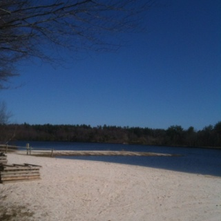 Lake Naomi, West Beach early Spring 2012