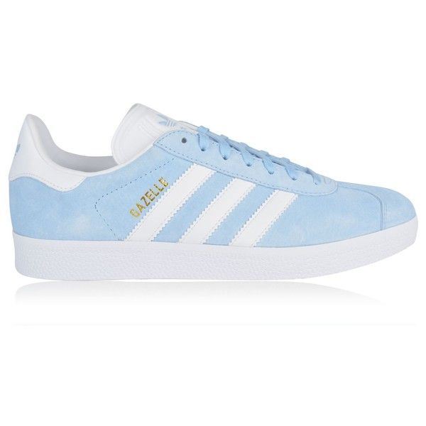 ADIDAS ORIGINALS Gazelle Trainers (130 CAD) ❤ liked on Polyvore featuring shoes, sneakers, laced sneakers, fleece-lined shoes, adidas originals shoes, round toe shoes and lacing sneakers