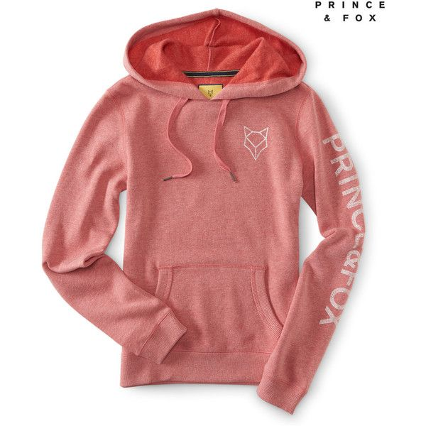 Aeropostale Prince & Fox Graphic Popover Hoodie ($24) ❤ liked on Polyvore featuring tops, hoodies, cider, red hoodies, aeropostale hoodies, aeropostale hoodie, fox hoodies and drawstring hooded pullover