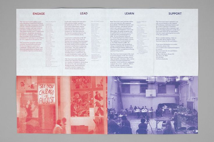 The Vera List Center For Art And Politics Print Materials - Project Projects