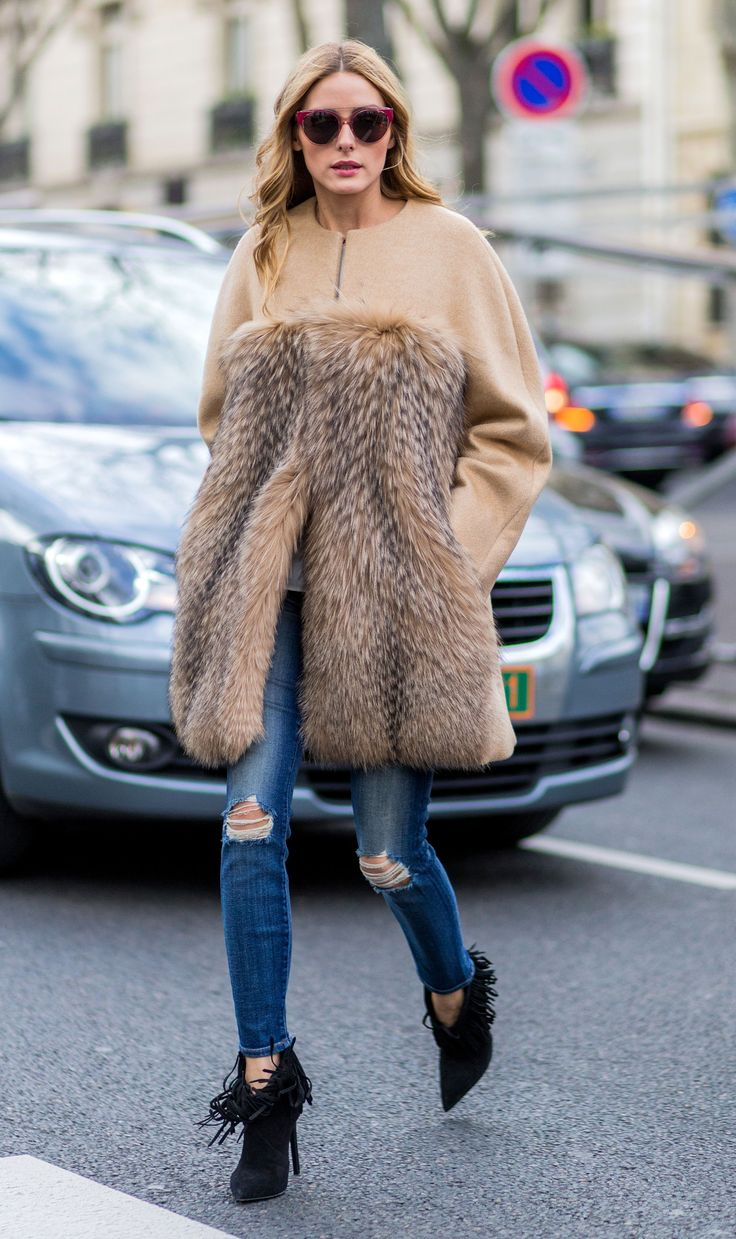 Olivia Palermo Takes Her New Fave Coat Out for Another Spin from InStyle.com