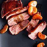 Crispy Duck Breasts with Balsamic-Glazed Tangerines Recipe | MyRecipes.com