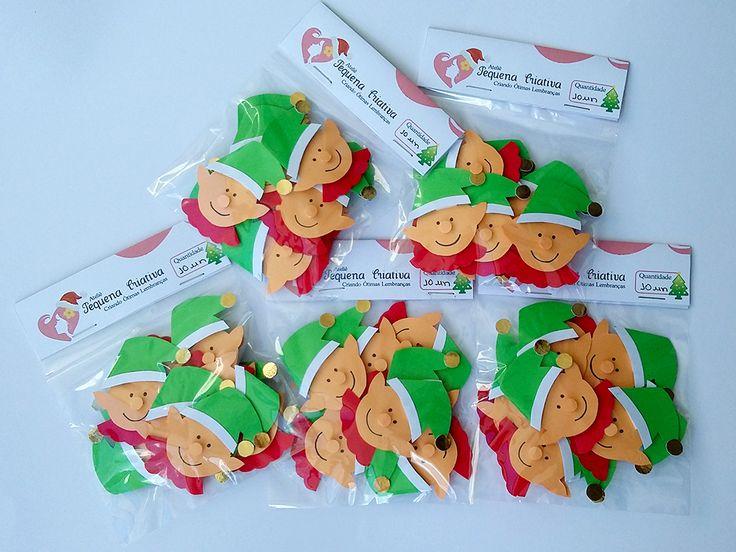 Aplique natalino duende para decoração de cartões, presentes, guirlandas, caixinhas, na decoração da mesa natalina e para os aniversários natalinos. Festa Natalina.