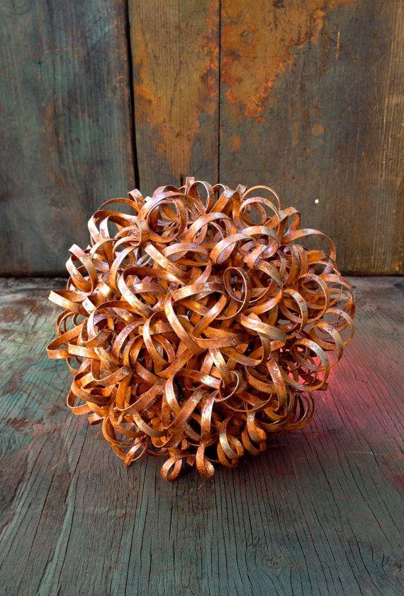 Rustieke Tumbleweed metaal Yard kunst, Zuidwestelijke Decor, Rustiek Decor, metaal Agave, metaal Cactus, tuin kunst, Landscaping, prikkeldraad kunst, rustieke bal