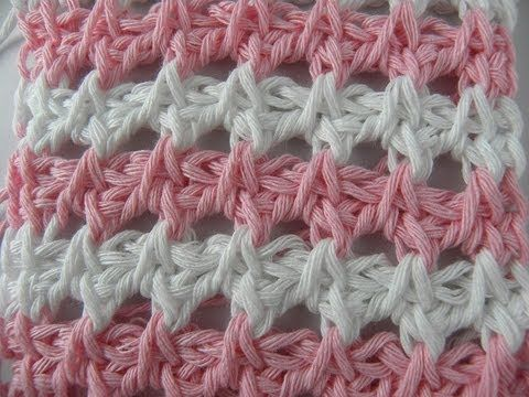Tunisian Crochet - Loch ness-Ajourmuster - YouTube Pretty stitch NOT in English ~☆~ Teresa Restegui http://www.pinterest.com/teretegui/ ~☆~