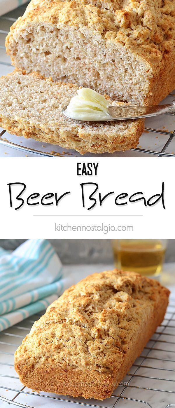 Easy Beer Bread - the simplest homemade quick bread you can make; either white or whole wheat