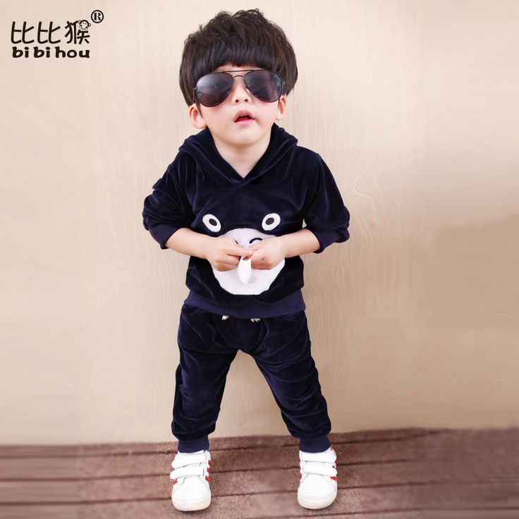 18m-5T boy toddlers Clothes Set for Kids Long Sleeve Hooded baby sport suit for boy shirt+Pants Autumn Children Clothes Suits