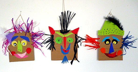Bastelideen/basteln-lustige-Faschingsmasken-Karton