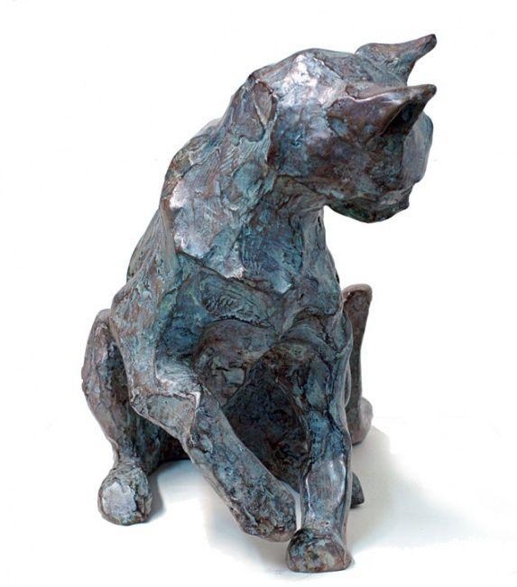 CHAT JOUANT (Sculpture),  33 cm par Danièle Dekeyser