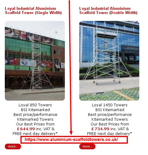 Loyal Industrial Aluminium Scaffold tower (Single Width) At https://www.aluminium-scaffoldtowers.co.uk/ #buyscaffodtower #uk #scaffolding