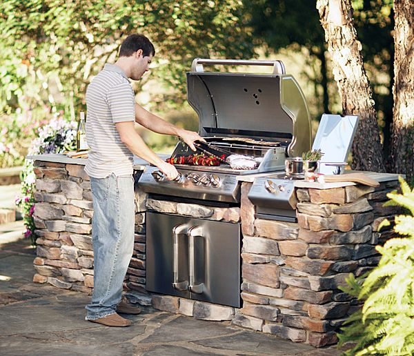 101 best outdoor kitchen images on pinterest outdoor for Outside cooking area
