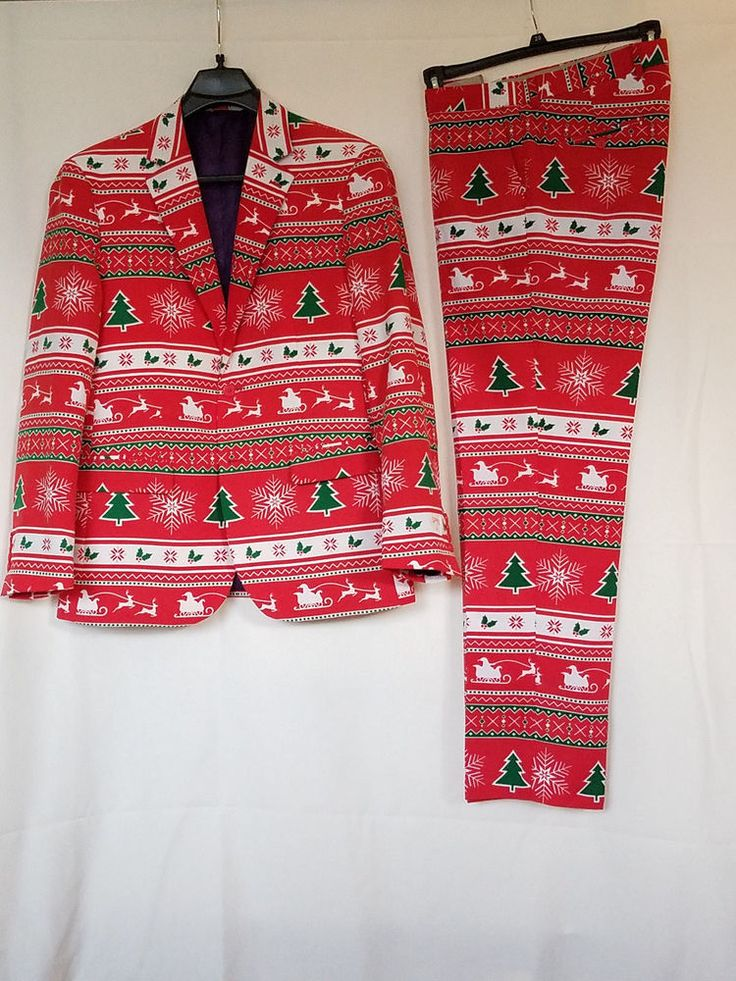 Opposuits Mens Slim-fit Size 42 US/UK Winter Wonderland Ugly Christmas Suit #OppoSuits #Suit