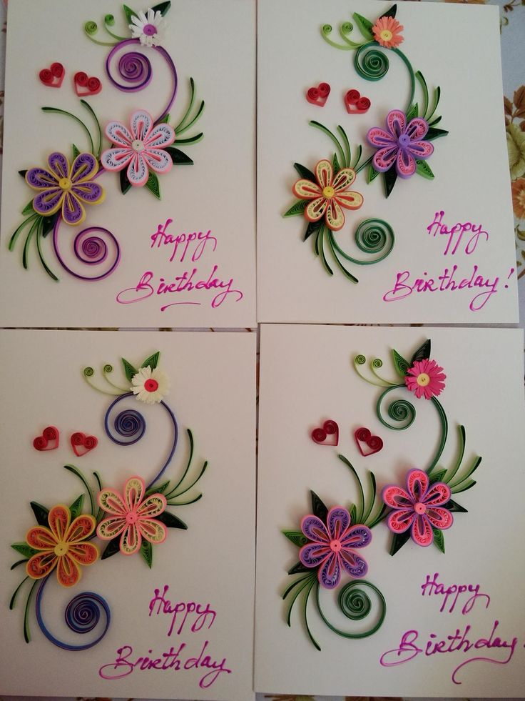 122 best Quilling Birthday Cards All Ages images – Art for Birthday Cards