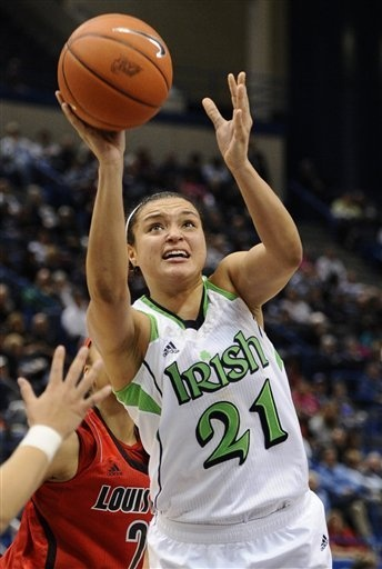 the university of notre dame girls basketball, Kayla McBride.