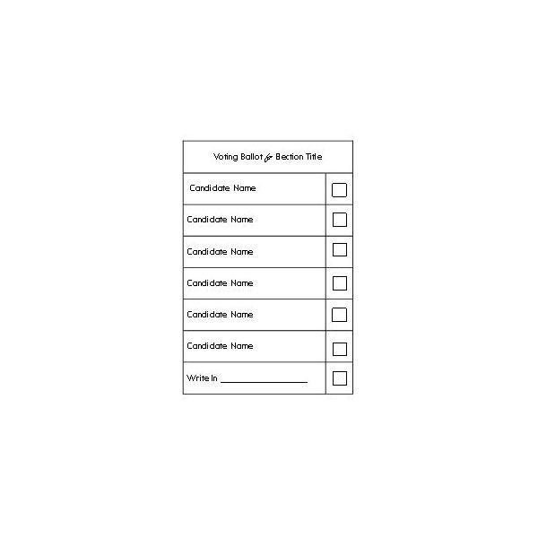 Image result for sample high school election ballot