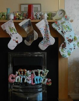 Medium and Large Christmas Stocking Patterns