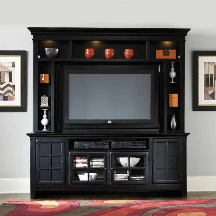 Fireplace Design black entertainment center with fireplace : 14 best images about entertainment centers on Pinterest