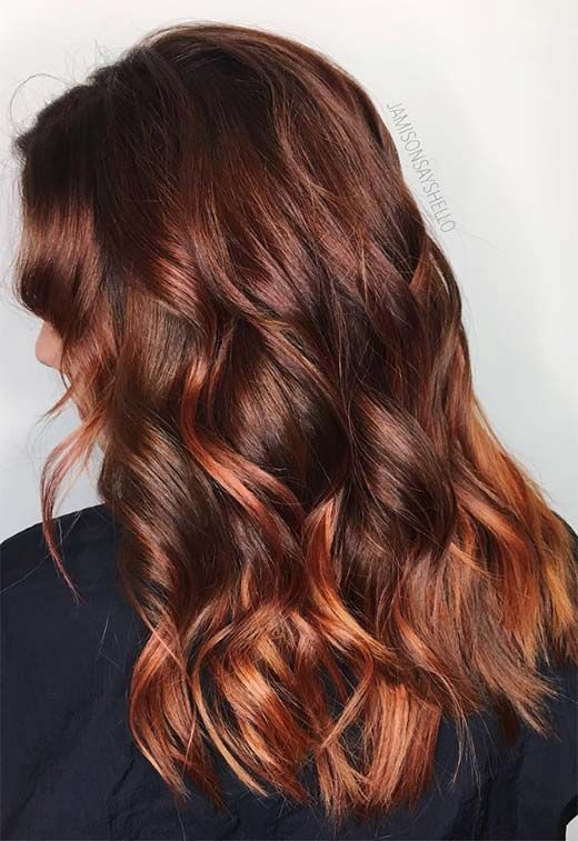 55 Auburn Hair Color Shades to Burn for: Auburn Hair Dye Tips – On top of my head.
