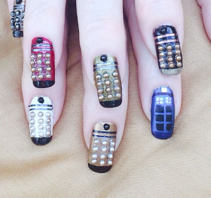 Tardis And Dalek Manicure In Honor Of The 50th Anniversary