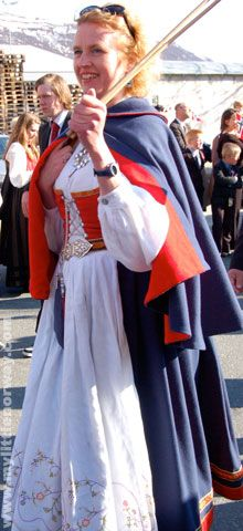 Women's traditional bunad from Vestfold. My paternal grandparents were born in Vestfold, Norway.