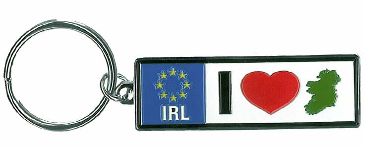 I Love Ireland Metal Keyring  http://paddywhackery.ie/home/keyrings/