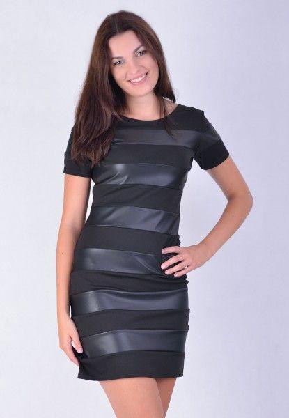 Sukienka Czarna pasy