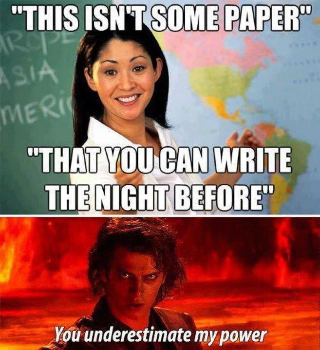best star wars images star trek starwars and you underestimate my power what i say for like every paper i